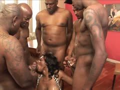 Black gangbang sex party