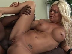 Intense sex with horny blonde