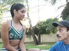 Cheerleader fucks the coach