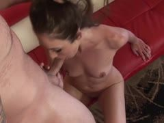 Katie Angel fucks the muscle boy